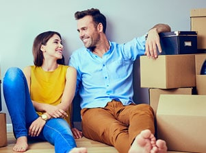Couple Hiring a Professional Mover in South